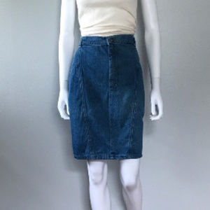 Vintage 80s  Blue Jean Skirt CANDIES